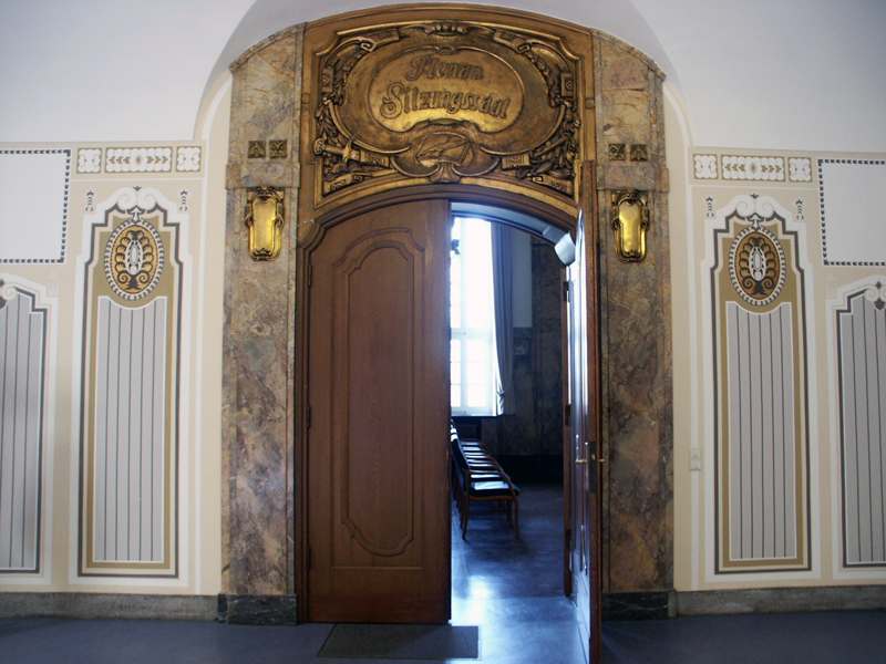 Eingang Plenarsaal